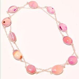 "Sterling 30"" Gemstone Necklace"